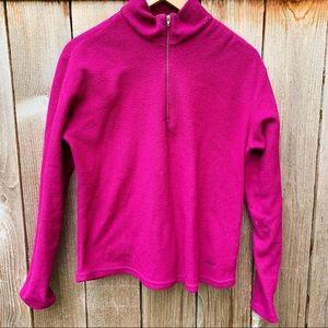 Patagonia Pink Capilene Fleece 1/2 Zip Sweatshirt